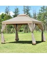 10 X 10 Awning Holiday Special 2 Tier 10 U0027 X 10 U0027 Patio Steel Gazebo Canopy Shelter