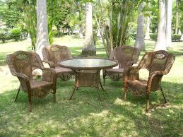 All Weather Wicker Patio Dining Sets by International Caravan Outdoor Wicker 5 Piece Patio Dining Set