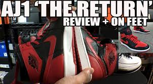 the real history of thanksgiving nike air jordan 1 u0027the return u0027 bred review u0026 on feet air jordan 1