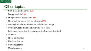 status of core courses biothermodynamics ppt download