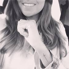 Cross On - small cross on wrist inspiration