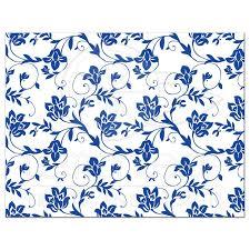 damask ribbon wedding rsvp card royal blue floral damask ribbon