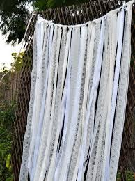 ribbon backdrop ivory white lace fabric ribbon backdrop curtain wedding lace