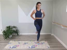 no equipment barre workout at home popsugar fitness