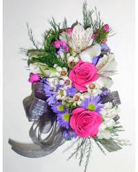 florist raleigh nc pink purple mixed flower corsage in raleigh nc gingerbread