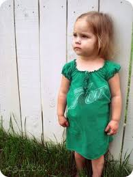 make an old tee shirt into a dress for your little she is so