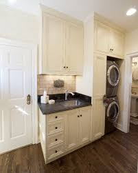 laundry in kitchen french style kitchen mediterranean laundry room denver by