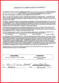 6 lawn care contract template assistant cover letter