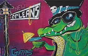 mardi gras alligator mardi gras heart of