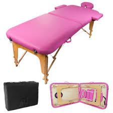 portable physical therapy table pink pvc portable massage table spa tattoo physical therapy w