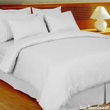 Comforter Thread Count White Stripe Twin Xl Duvet Style Comforter Set 100 Cotton 300