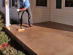 Backyard Flooring Ideas by How To Stamp A Concrete Porch Floor How Tos Diy