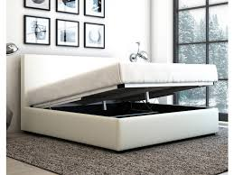 queen size gas lift pu leather bed frame arthur collection white