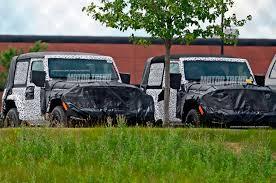 silver jeep 2 door spied 2018 jeep wrangler two door caught in the open motor trend