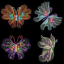 flutterby luv 2 30 machine embroidery designs azeb machine