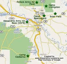 louisiana highway map c claiborne louisiana wwii army c near alexandria louisiana