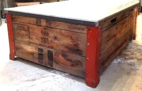 shipping crate coffee table vintage metal coffee table shipping crate coffee table old metal