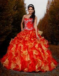 quinceanera dresses red and gold naf dresses