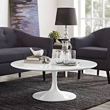 lippa coffee table in white multiple sizes by modway