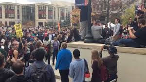 Flag Burning Protest Confrontations Over Flag Burning At Anti Trump Student Protest