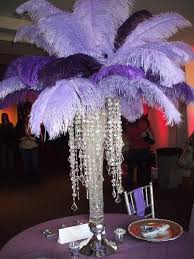 Feather Vase Centerpieces by Purple And Black And Platinum Centerpieces Centerpiece Done By