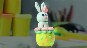 play doh clay bunny rabbit easter crafts for kids youtube