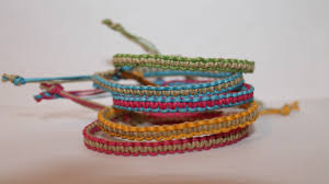 string knots bracelet images Two colored square knot friendship bracelet jpg