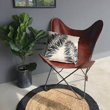 leather butterfly chair brown leather butterfly chair humble home