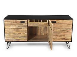 Mango Wood Side Table Industrial Design Mango Wood Sustainable Sideboard With Black