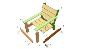 chair outdoor wood chair plans