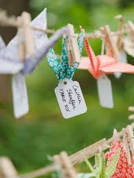 24 best origami paper cranes wedding seating plans images on