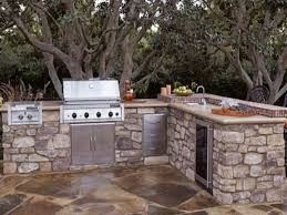 cool outdoor diy kitchen design ideas glossy dark brown floorings