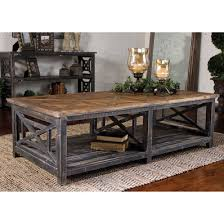 Wood Coffee Table Rustic Industrial Rope And Wood Coffee Table Shades Of Light