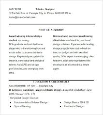 Sample Resume Of Interior Designer by Designer Resume Template U2013 8 Free Samples Examples Format