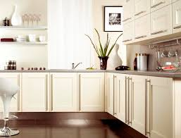 White Ikea Kitchen Cabinets Kitchen Simple Bookshelf Headboard Concrete Wallpaper Small