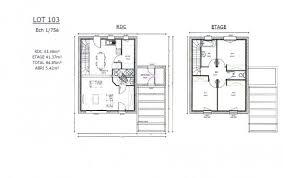 plan maison etage 3 chambres plan et photos maison 3 chambres de 85 m