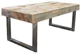 Wood Coffee Table Bernard Coffee Table Industrial Coffee Tables By Emerald Home