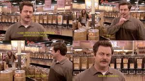 Whole Foods Meme - ron swanson visits whole foods meme guy