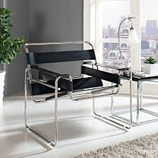 strappy lounge chair in black dotandbo com isaac office