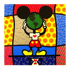 britto garden romero britto mickey u0027s world serigraph on paper subject neo pop