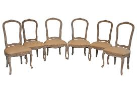 set 6 french louis xv dining room chairs omero home