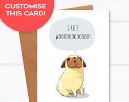 pug card etsy