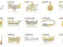 real gold nameplate necklace real gold nameplate necklace accordion necklace