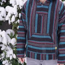 Mexican Rug Sweater Mexican Threads Baja Drug Rug Hoodie From Orvinapparel On Etsy