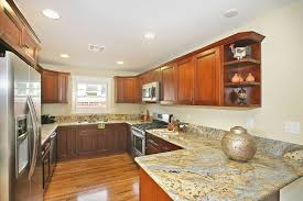 traditional kitchen with complex granite hardwood floors in san