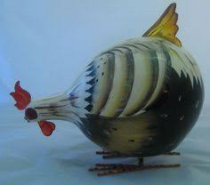 rocking rooster green chicken ornament small hb ornaments