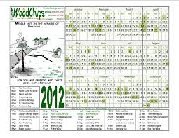 cool 2012 woodchips calendars free the woodchips