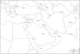 Blank Map Of North Africa by Outline Map Of Southwest Asia And North Africa With At Blank