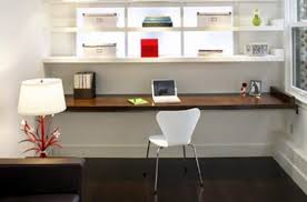 Workspace More Efficient To Work At Home With Cool Floating Desk