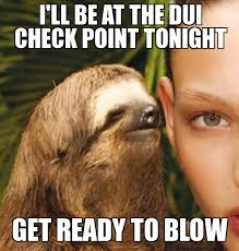 Dui Meme - rape sloth i ll be at the dui check point tonight get ready to